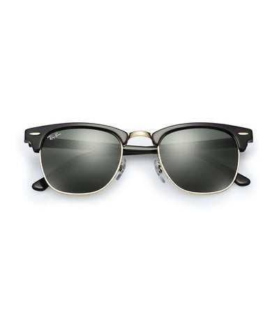 ray-ban clubmaster classic sunglasses 55 black