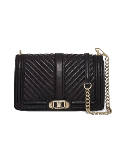 rebecca minkoff chevron love quilted crossbody black
