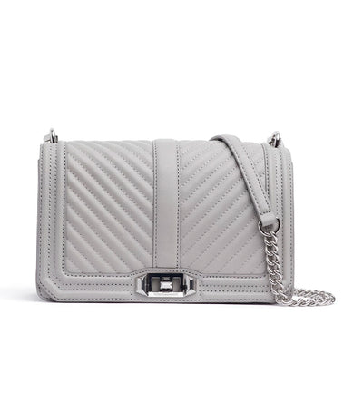 rebecca minkoff chevron love quilted crossbody perla