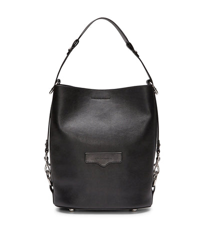 rebecca minkoff utility convertible bucket bag black