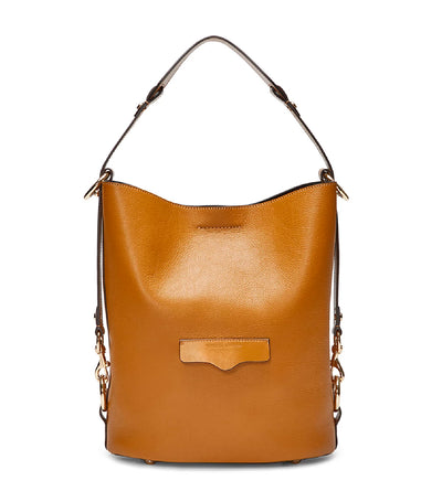 rebecca minkoff utility convertible bucket bag nutmeg