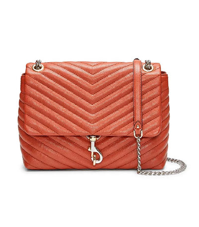 rebecca minkoff edie flap shoulder bag acorn