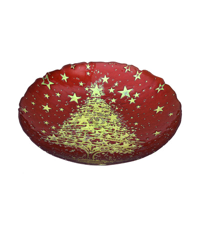 akcam christmas bowl gold cromer red