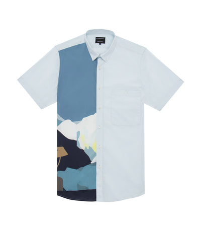 ricardo preto watt mountains print short-sleeved dress shirt