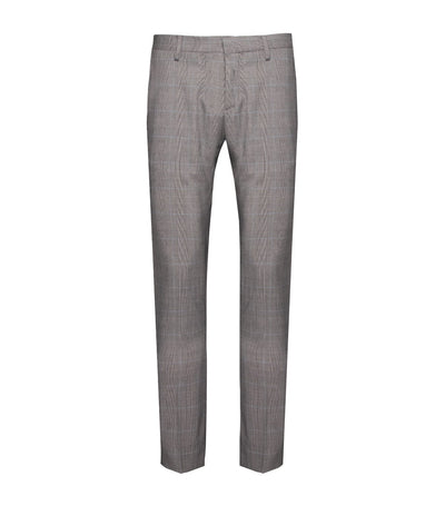 ricardo preto cato gray plaid flat-front pants