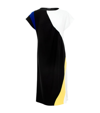 ricardo preto woman balsam color block shift dress black