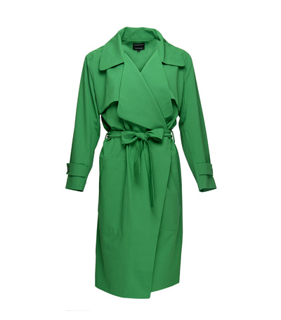 ricardo preto woman apricot coat green