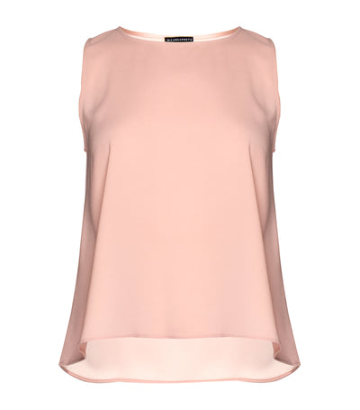 ricardo preto woman matta sleeveless blouse cameo rose
