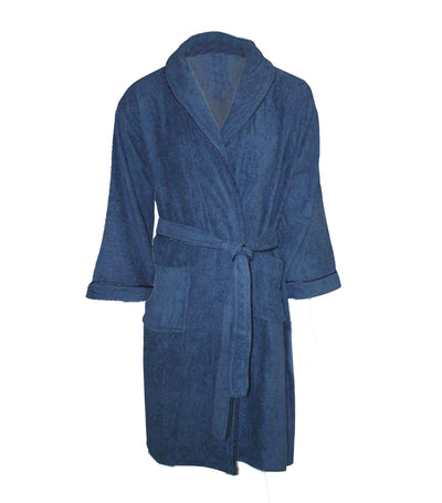 bloomsfield terry bathrobe - blue