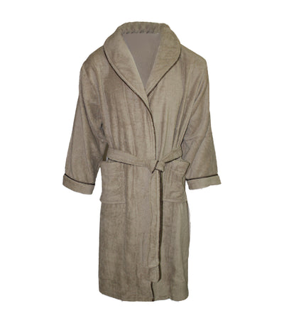 bloomsfield terry bathrobe - brown