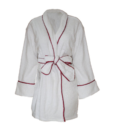 bloomsfield terry bathrobe - white/red