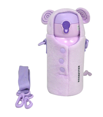 roobetter purple 550ml insulated water bottle - monkey