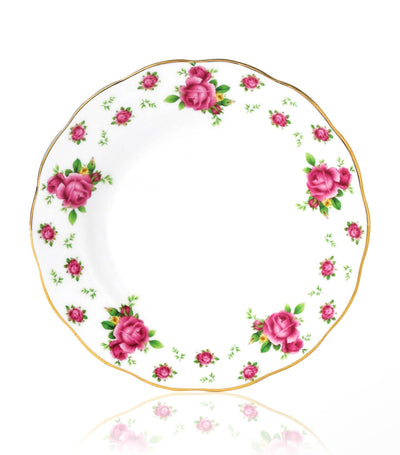 royal albert white 16cm new country roses vintage plate