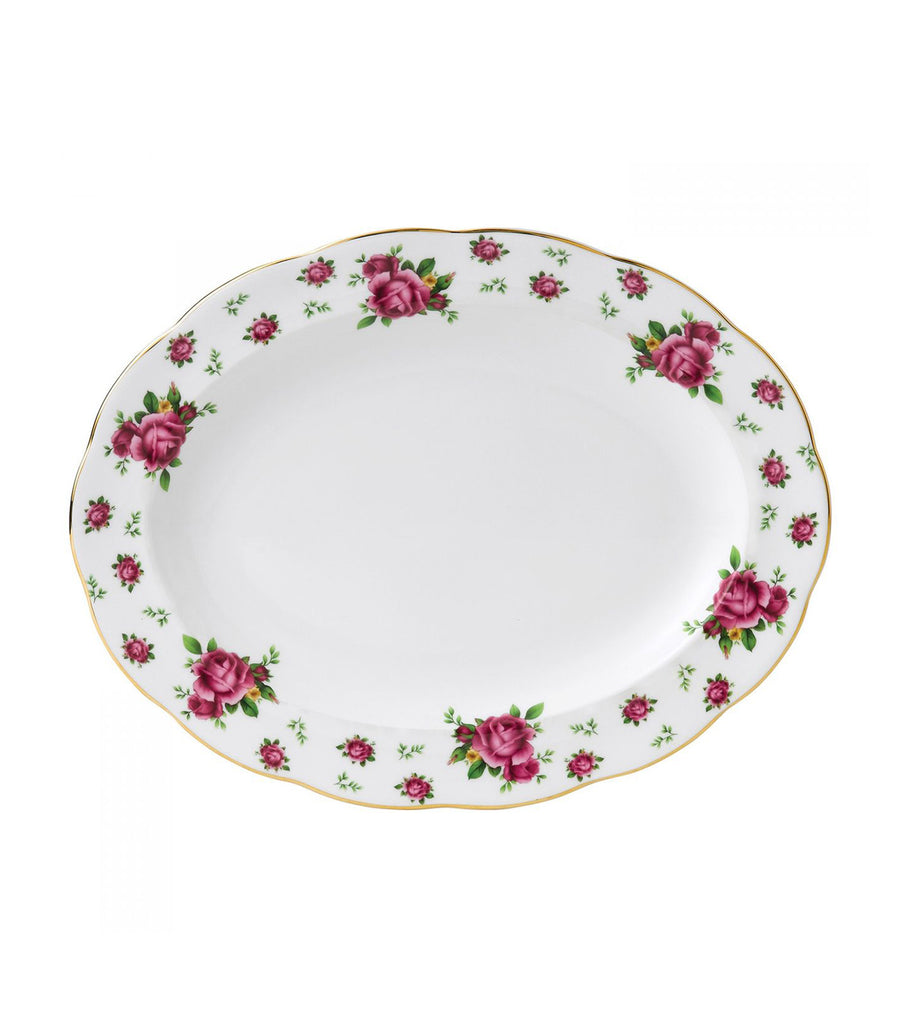 royal albert white 33cm new country roses vintage oval platter