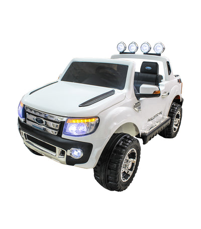 off-road white ford ranger with eva tire