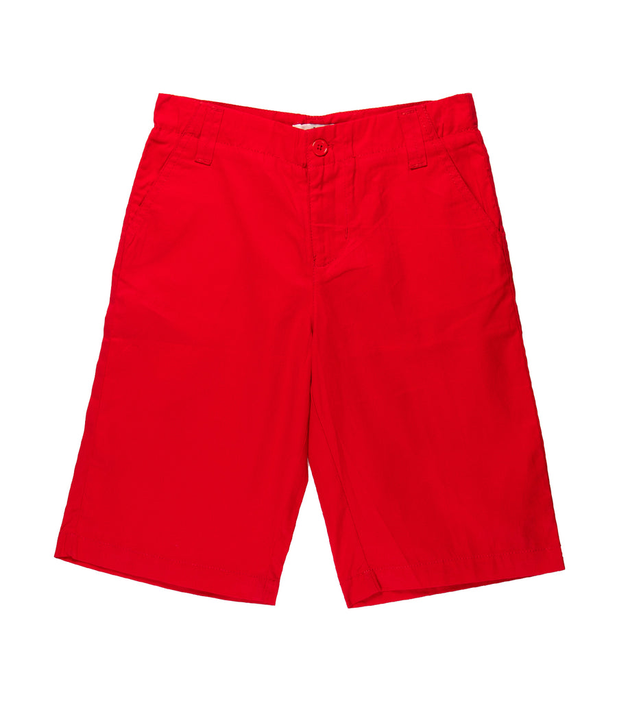 rustan jr. red twill shorts