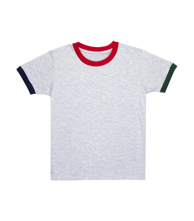rustan jr. arthur short-sleeved with color blocking edge t-shirt – gray