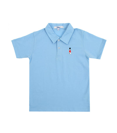 rustan jr. light blue marcel polo shirt with embroidery