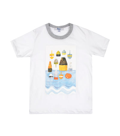 rustan jr. white kendric round-neck with print