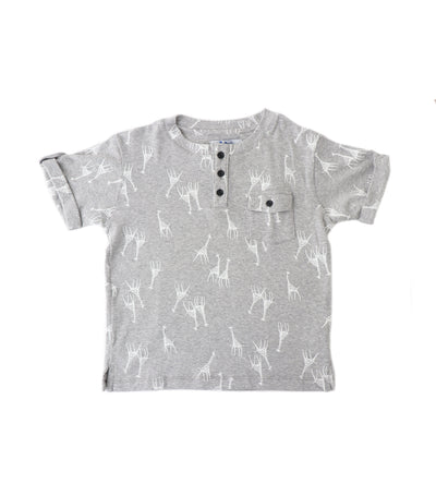 rustan jr. light gray bradford t-shirt in giraffe print