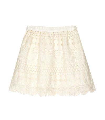 rustanette lace skirt - white