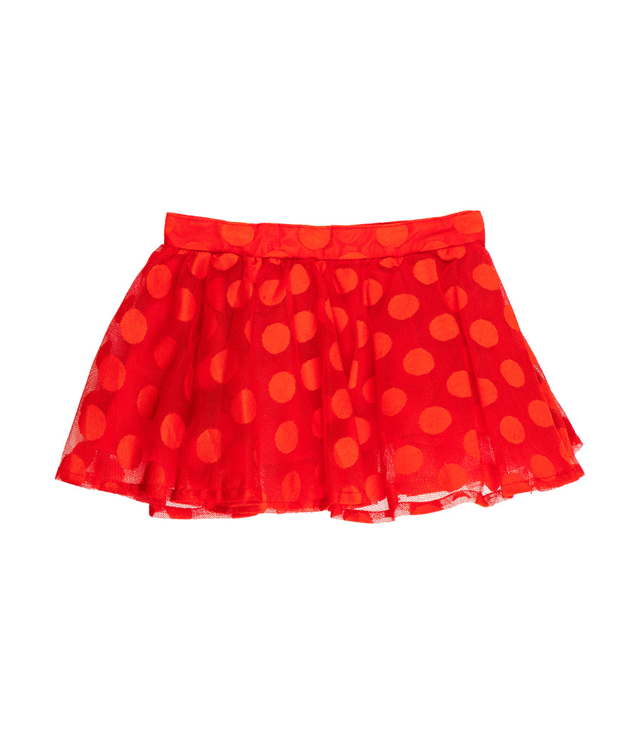 rustanette red polka dot skirt