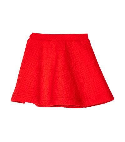 rustanette red waffle skirt