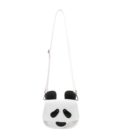 rustanette white panda crossbody bag