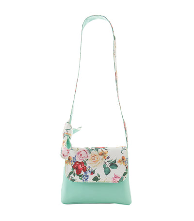 rustanette mint green flor floral crossbody bag
