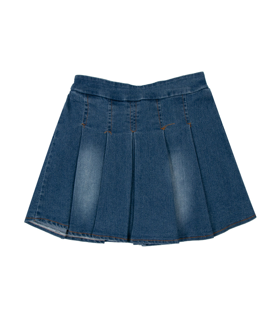 rustanette elsa pleated denim skirt