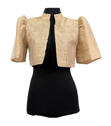 rustan's filipiniana our very own beige mithi organdi bolero - olive
