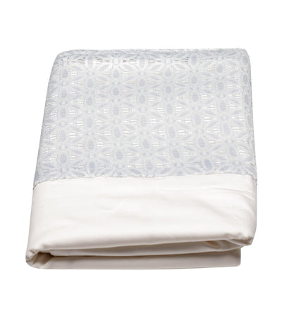 rustan's home queen blue gray lace pillow case - queen