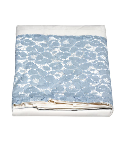 rustan's home blue gray rose pillow case -queen