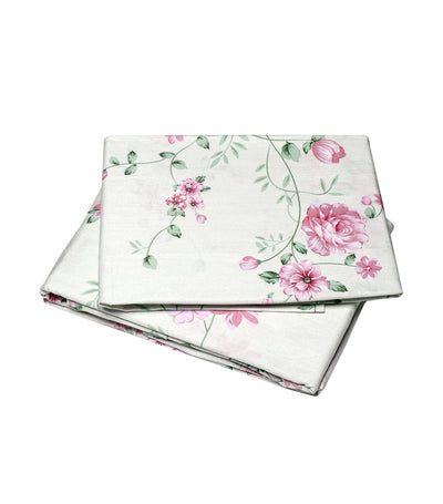 rustan's home pink rose sheet set full with 300 thread count