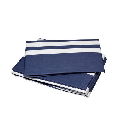 rustan's home blue and white stripes sheet set full with 300 thread count