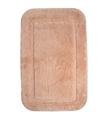 rustans home natural bathroom rug set bath mat contour & toilet lid cover