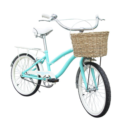 rux beach cruiser bike 20 green