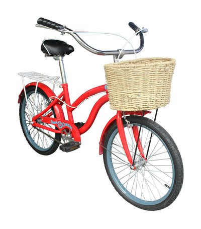 r.u.x. red beach cruiser bike 20""