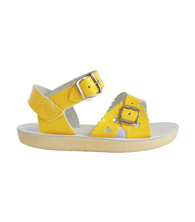 salt-water sandals kids shiny yellow sweetheart premium