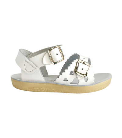 salt-water sandals kids white sweetheart
