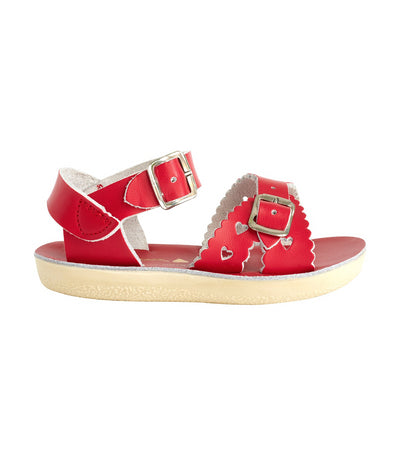 salt-water sandals kids red sweetheart