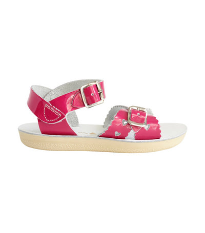 salt-water sandals kids shiny fuchsia sweetheart premium