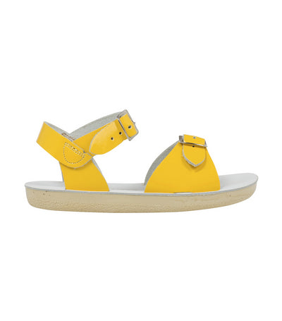 salt-water sandals kids shiny yellow surfer premium
