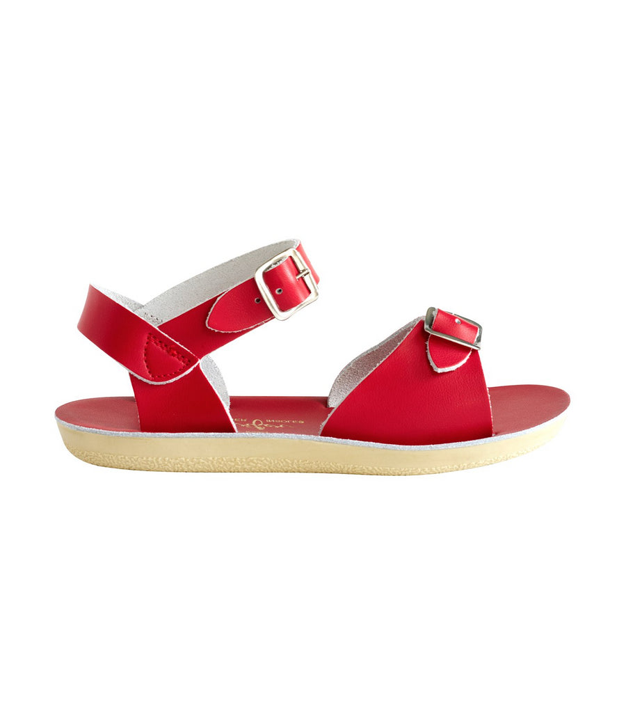 salt-water sandals kids red surfer