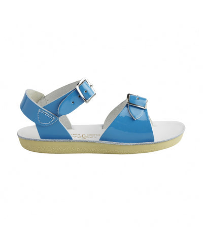 salt-water sandals kids shiny turquoise surfer premium