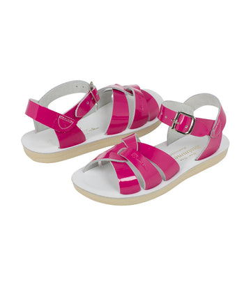 salt-water sandals kids shiny fuchsia swimmer premium