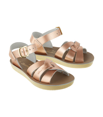 salt-water sandals kids rose gold swimmer premium