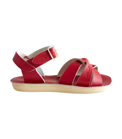 salt-water sandals kids red swimmer
