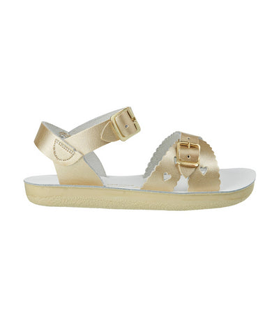 salt-water sandals kids gold sweetheart premium