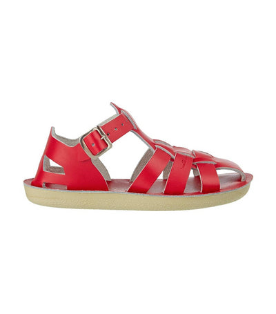 salt-water sandals kids red shark